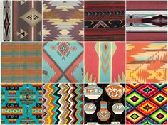 native american patterns & palettes. reminds me of my sweet mama…