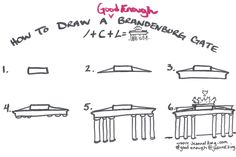 Good Enough drawing of the Brandenburg Gate | jeannelking.com