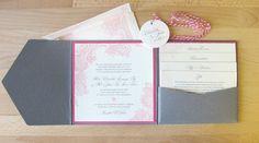 Olive weddings - pocketfold invite