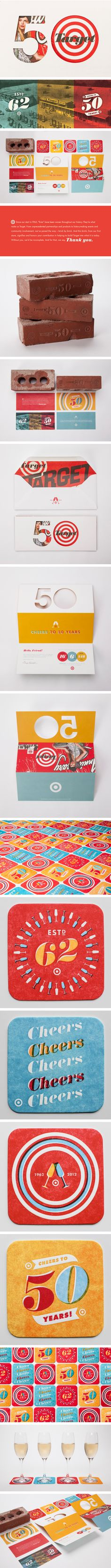 Target: Anniversary Party Collateral by Allan Peters
