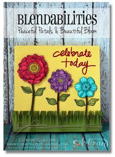 Happy Watercolor stampConstantly Stamping: Artisan Wednesday WOW - 8x8 Canvas Wall Art - 5/27/14  (SU: Blended Bloom)
