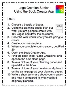 iPad Literacy Stations with Legos. Students will write about their building and use Book Creator App to record a story. Library Themes, Library Activities, Library Ideas, Elementary School Library, Elementary Schools, Lego Classroom Theme, Literacy Stations, Literacy Centers, Learning Centers