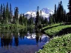 Mount Rainier, Washington, the snowiest place in North America.