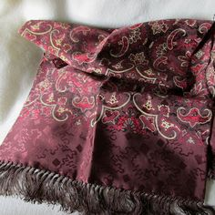 Antique c1930s Mens Rayon Scarf for Smoking Jacket by Neatcurios