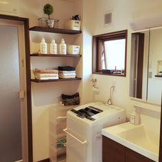 タオル/タオル収納/IKEA/洗濯機/トゥシェ/無印良品…などのインテリア実例 - 2016-03-20 10:19:45   RoomClip(ルームクリップ)