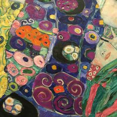 Gustav Klimt / detail of painting The Virgin, 1912 Vienna Secession, Edvard Munch, Paul Cezanne, Gustav Klimt, Art Object, Pablo Picasso, Painting Inspiration, Pencil Drawings, Zentangle