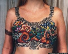 This is an awesome tattoo and this woman is so courageous to show it. facebook cancer tattoo photo #inspirational <3 <3 <3