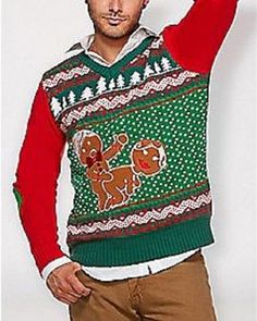d2669f3ab0d3 UGLY CHRISTMAS SWEATER LIGHT-UP GINGERBREAD MAN COUPLE HUMPING MEDIUM NEW # SPENCERS #UGLYCHRISTMASSWEATER