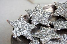 Silver Glitter Stars for Scrapbooking Card Making by CardsbyCarla, $18.00