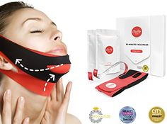 ChinUp Mask Trial Pack  Non Surgical Chin up Lift Face lift AntiAging  Slimming Face Mask for Sagging Double Chin ** Check out the image by visiting the link. (Note:Amazon affiliate link) #FacialMask