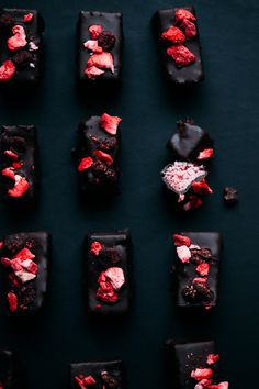 These vegan coconut candies are made with just a few healthful ingredients: fluffy coconut, dotted with tart strawberries, and covered with dark chocolate.