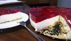 Torta Espelhada de Ricota e Morangos   Creative