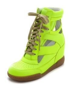 #MARC_by_MARC_JACOBS #SNEAKERS #SNEAKER #СНИКЕРСЫ #Кеды_на_танкетке #Кроссовки #Кроссовки_на_танкетке Neon Yellow Marc By Marc Jacobs