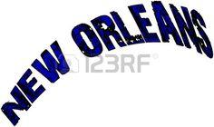 New Orleans text illustration on white background