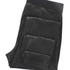Hue Leggings - Black Distressed Leatherette Leggings