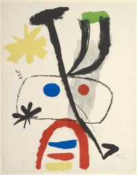 Joan Miró Spanish, 1893-1983  Personnage and Stars, 1950