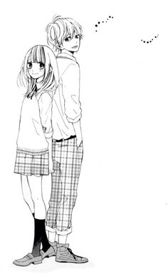 Shared by Manga&Love. Find images and videos about art, couple and manga on We Heart It - the app to get lost in what you love. Romantic Anime Couples, Cute Couples, Manhwa Manga, Manga Anime, Anime Monochrome, Comic Costume, Manga Story, Anime Family, Manga List