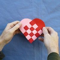 embracing my Danish heritage...Heart Basket: How to make a Danish woven heart basket,