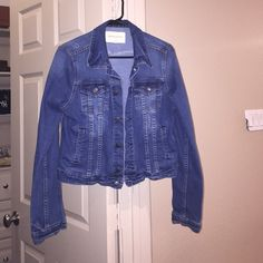Altar'd State Denim Jacket Denim jacket bought from Altard State. Worn one time. Excellent condition!! Dark denim wash. Open to offers!! Altar'd State Jackets & Coats Jean Jackets