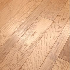 Multiple width Hickory Hardwood Flooring | Floors Hudson Bay Mixed Width Engineered Handscraped Hickory Flooring ...