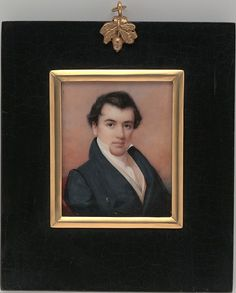 John Neagle by Daniel Dickinson, watercolor on ivory, 1830.