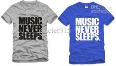music never sleeps shirt idea