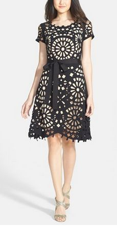 Gorgeous laser cut dress
