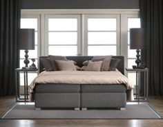 Boxspring Stockholm: past in een moderne en stoere slaapkamer #bed ...