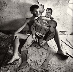 Superman Fantasy. Arthur Tress is a notable American photographer born on November 24, 1940 in Brooklyn, New York. He is well known for his staged surrealism and exposition of the human body.