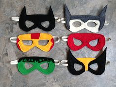 Super hero masks - my boys would have a lot of fun with these!