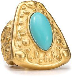 TAHARI  CUFFS JEWELRY   Tahari Marrakesh Stretch Ring in Blue (gold turquoise) - Lyst