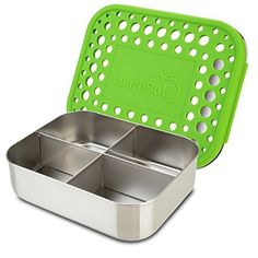 HusKitchen Stainless Steel Bento Lunch Box Large, 3 Compartment, Adults and Kids - Food Container