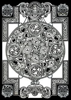 Celtic Tapestry Drawing Poster By Morgan Fitzsimons