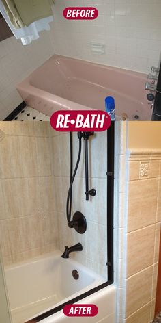 Rebath Bathroom Remodel Before And After