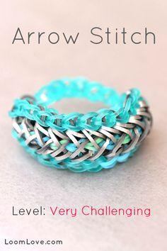 How to Make an Arrow Stitch Rainbow Loom Bracelet