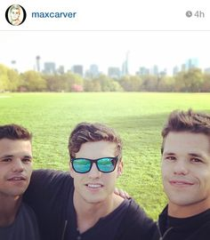 Charlie  Max Carver with Daniel Sharman... Teen Wolf Season 4 just won't be the same without these boys!