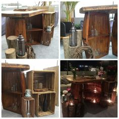Wedding cake or birthday cake table Rustic idea for your event,   For your information about our product and pricelist, contact us via; FB; Bali Rustic Rental Instagram : bali rustic rental Email : goesbayuputra@yahoo.com Wa : 089655355052 Ph : 081238076101