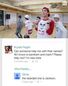 Ya no.. The one not doing the same moves as everyone.. Jackson