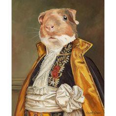 Lincoln the Guinea Pig 8x10 Art Print