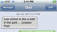 ha law school = jurassic park