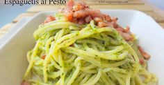 Espaguetis al pesto de cacahuetes