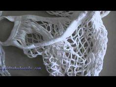 ΠΛΕΚΤΗ ΤΣΑΝΤΑ ΓΙΑ ΨΩΝΙΑ CROCHET SHOPPING BAG - YouTube