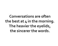 sincere words