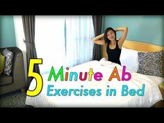 Joanna Soh - 5 MINUTE AB EXERCISES IN BED workout video on youtube.