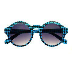 Funky Print Retro Fashion Celebrity Keyhole Round Sunglasses R2170