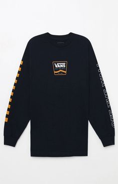 ece172b3775dc Vans Break Black Long Sleeve Crop T-Shirt