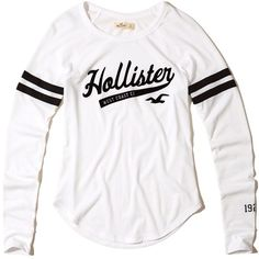 Hollister Slim Raglan Graphic Tee ($25) ❤ liked on Polyvore featuring tops, t-shirts, white, white tee, crew t shirts, raglan tee, raglan t shirt and graphic t shirts