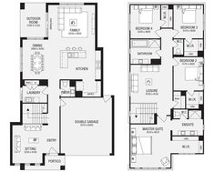 Salamanca 33 New Home Floor Plans, Interactive House Plans - Metricon Homes - Melbourne adjust for tub in owners Best House Plans, Dream House Plans, Modern House Plans, House Floor Plans, Stairs Floor Plan, Flooring For Stairs, House Stairs, The Plan, How To Plan