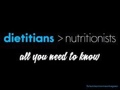 Dietitians > Nutritionists