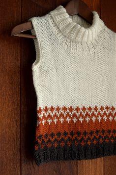 Hand knitted Sleeveless SweaterSweater Cowl Neck by KsyuKnitting